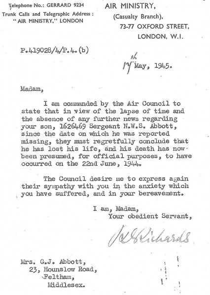 Abbott_Norman_William_Stanley_letter_17_May_1945