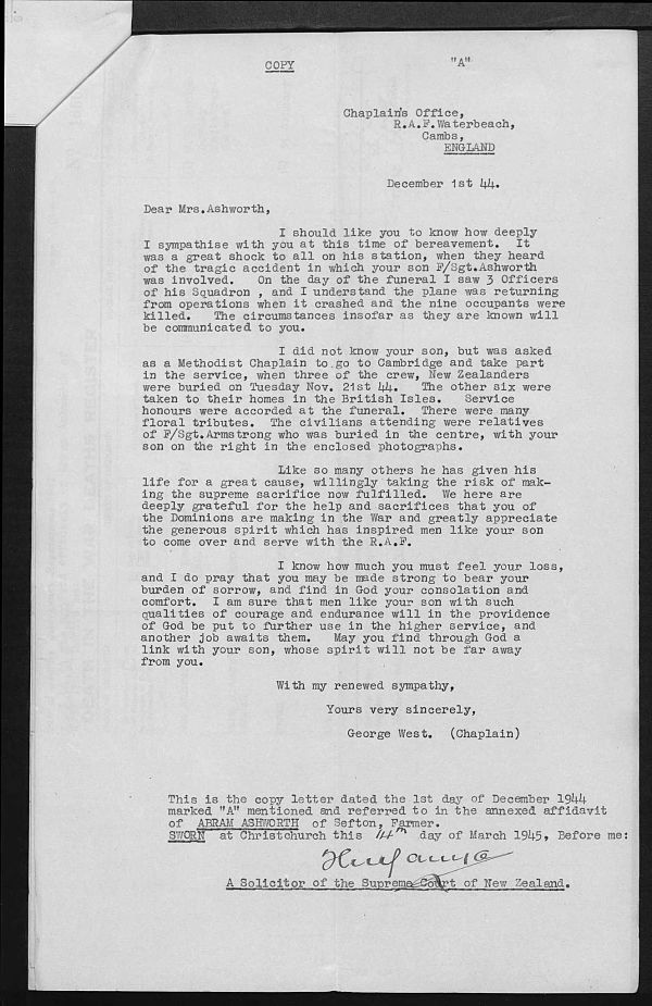 Ashworth_James_Colin_letter_to_Mrs_Ashworth_from_Supreme_court