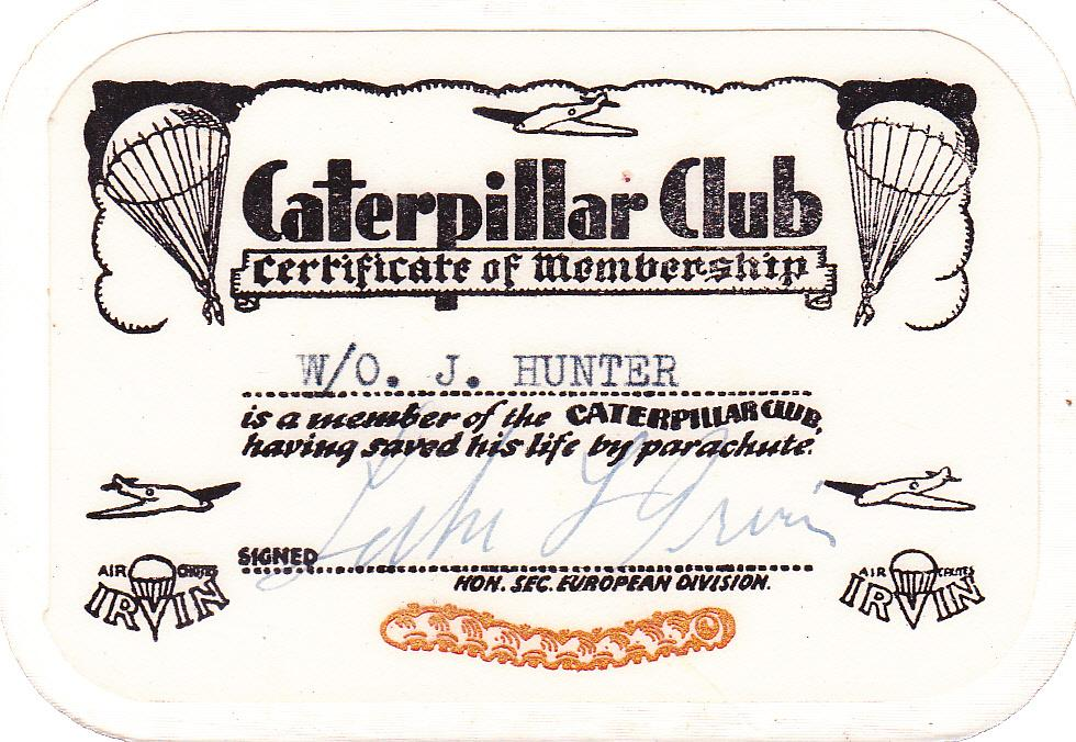 Hunter_John_caterpillar_club_certificate